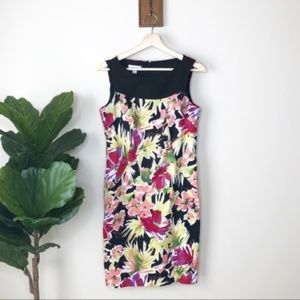Dress Barn floral sleeveless dress